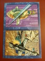 "STAR WARS VEHICLES 1997 TOPPS UNCUT 2-CARD POSTCARD-STYLE PROMO CARD 4"" x 6"""