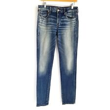 American Eagle Skinny Jeans Womens 10 Long Stretchy Blue