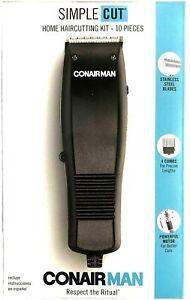 Conair Man Hair Cutting kit Simple Clippers Corded Cut Trimmer Machine HC93W Men
