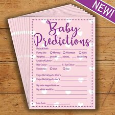 Baby Shower Predictions - Pink/Girl- 10 Players - Perfect Party Game!
