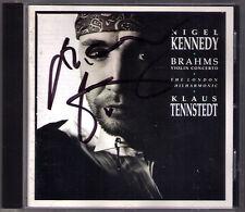 Nigel KENNEDY Signed BRAHMS Violinkonzert KLAUS TENNSTEDT CD Violin Concerto
