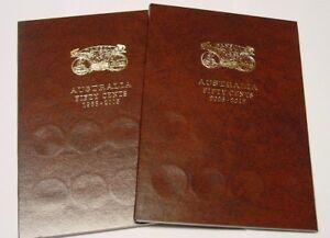 Dansco Deluxe Australian 50c Push-in Coin Albums 1966 - 2012. Brand New