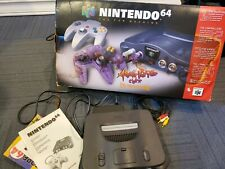 Nintendo 64 Charcoal Grey Console with Controller and Box - N64 Tested