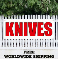 Banner Vinyl KNIVES Advertising Sign Flag Gun Rifle Pistol Firearms Buy Knife