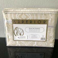 Superior Cotton Rich 600Tc King/Cali King Duvet Cover 3 Piece Set