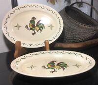 "Metlox Poppytrail Provincial Rooster 13 1/2"" Serving Platter California"