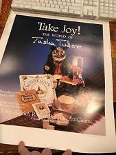 Tasha Tudor,19.3/4  by 16 1/4 SIGNED POSTER TAKE JOY THE WORLD OF TASHA TUDOR