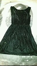 black velvet gold sparkley dots dress