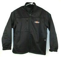 Antigua Mens Sz XL Black Cold Weather Water Resistant Coat TXEX logo