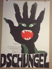 PLAKAT MÜNCHEN FASCHING DSCHUNGEL HAUS DER KUNST 70ER JAHRE POSTER 1970 KUNERT