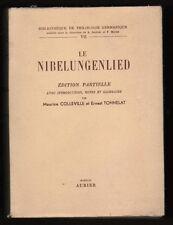 █ Colleville / Tonnelat LE NIBELUNGENLIED Philologie █
