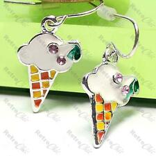 ICE CREAM EARRINGS cornet KITSCH sweet icecream WHITE/YELLOW/RED retro cornetto