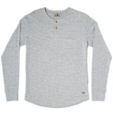 NWT Mens Striped Slim Fit Long Sleeve Cotton Henley Shirt Size Medium left
