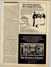Royal Sonesta, New Orleans - Sir Francis Drake Princess Hotels 1979 Print Ad
