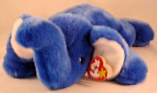 "Ty Beanie Buddy Peanut The Royal Blue Elephant - 1998 RARE Retired 18"""