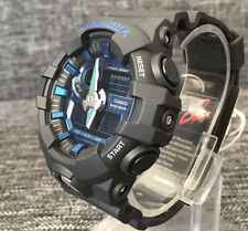 Casio G SHOCK ga-710-1a2 BLACK & BLUE XLARGE analog&digital WR 200m Nuovissima