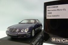 WOW EXTREMELY RARE Mercedes W215/C215 CL500 1999 Azure Blue 1:43 Minichamps-560