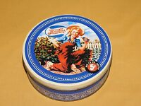 "VINTAGE 6 1/2"" ACROSS PEPSI-COLA GARDENING GIRL LADY BIG 12 OZ BOTTLE 5C TIN"