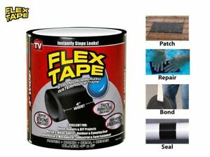 2x Waterproof Tape 10x152cm Strong Rubberized Leakage Pipe Repair AUStock Black