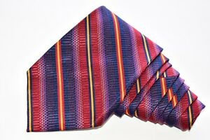 """HICKEY FREEMAN STRIPED/BLUE Men's Neck Tie W:4"""" by L:60"""" made in USA"""