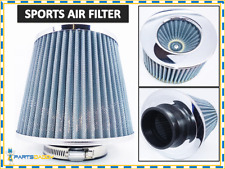 UNIVERSAL CAR AIR FILTER CHROME INDUCTION KIT SPORTS MESH CONE WITH ADAPTERS NEW
