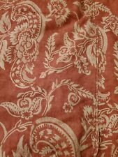 $179 Pottery Barn Alessandra Organic Percale Cotton Duvet Cover King Red New