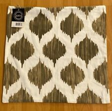 """Surya SY-1818 Beige Ogee 18""""W Square Ogee Cotton Accent Pillow Cover"""