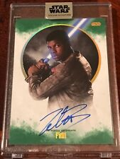 Star Wars Stellar JOHN BOYEGA as FINN Green 11/20 Auto Autograph Signature Topps