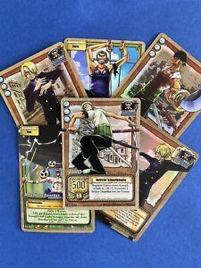 HOLOS - 6 Karten - Sanji Zorro Enel - One Piece TCG Karten - Played Zustand
