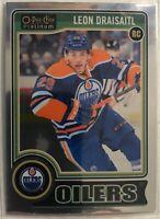 2014-15 Leon Draisaitl O-Pee-Chee Platinum Card #159 Rookie Edmonton Oilers