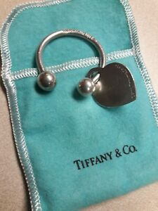 2001 TIFFANY & CO. Sterling Silver Keychain Key Chain Key Ring Vintage Keychain