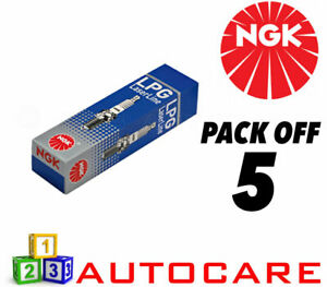 NGK LPG (GAS) Spark Plugs Volvo S60 I S70 S80 I V70 XC70 Cross Country #1496 5pk