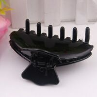 2 Pc Plastic Hair Claw Bright Black Section Hair Clip Clamps Care Hairpins Salon