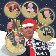 WR 2018 Donald Trump Say Merry Christmas Again Gold Coin Set 5PCS US Gift
