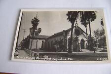 Rare Vintage Or Antique RPPC Real Photo Postcard M2 St Augustine Florida Church