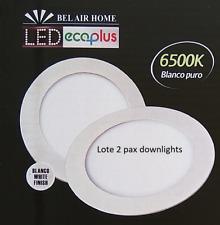 Lote Pax 2 Uds. Downlight panel LED Circular 18W Garantía 2 años. Envío en 24h