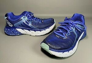 Hoka One One Womens Gaviota 1016303 BSTW Blueprint Running Shoes Lace Up | Sz 7