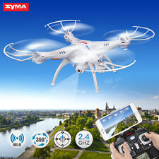 Syma X5SW WIFI FPV 2.4Ghz 4CH 6-Axis RC Quadcopter Drone Camera HD White RTF