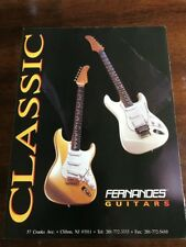 "1990 VINTAGE 8X11 PRINT Ad FOR Fernandes ELECTRIC GUITARS ""CLASSIC"" WHITE, GOLD"