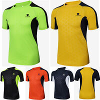 New Mens Breathable T Shirt Wicking Cool Dry Performance Running Gym Sports Tops