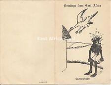 East Africa WW2 Racist Card Dated Nairobi 1942 Poor Taste Kitsch