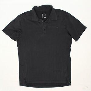 Arcteryx Mens Captive SS Polo Shirt M Solid Dark Gray Cotton Poly Stretch Blend