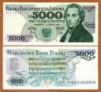 Poland, 5000 (5,000) Zlotych, 1982, P-150a, UNC > Composer Chopin