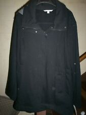 VALERIE STEVENS BLACK COAT/JACKET WITH HOOD, New With Tags, 3X