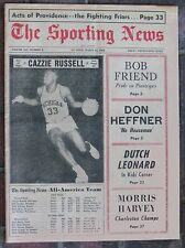 3-12-66 Sporting News Cazzie Russell on Cover  All American Basketball Team