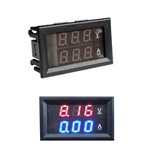 4.5-30V 0-50A Rouge&Bleu Dual LED Digital Voltmètre Ampèremètre Power Meter Neuf