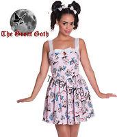 Hell Bunny Funfair Mini Dress Summer Rockabilly Vintage Pink Beach ALL SIZES New