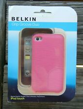 BELKIN iPod Touch Grip Groove Duo Silicone 2 Cases Purple & Pink NEW 2-Pack