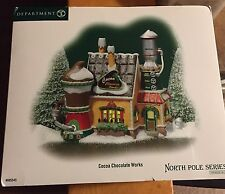 Dept 56 North Pole COCOA CHOCOLATE WORKS #805545 Village - Mint Condition
