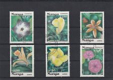 NICARAGUA 1985 FLEURS LOCALES 6 TIMBRES OBLITERES